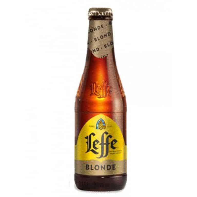 leffe blonde cerveza